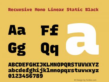 Recursive Mn Lnr St Blk Version 1.077;hotconv 1.0.112;makeotfexe 2.5.65598图片样张