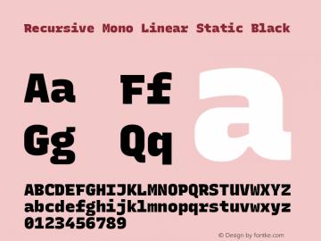 Recursive Mn Lnr St Blk Version 1.077;hotconv 1.0.112;makeotfexe 2.5.65598; ttfautohint (v1.8.3)图片样张