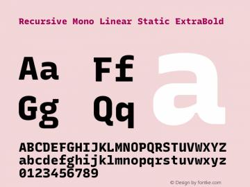 Recursive Mn Lnr St XBd Version 1.077;hotconv 1.0.112;makeotfexe 2.5.65598; ttfautohint (v1.8.3)图片样张