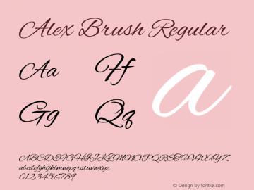 Alex Brush Regular Version 1.101 Font Sample