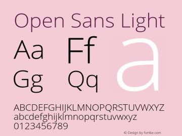 Open Sans Light Version 1.10 October 8, 2015图片样张