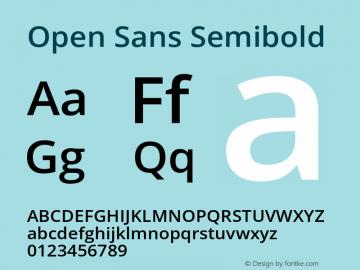 Open Sans Semibold Version 1.10图片样张