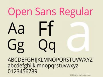Open Sans Version 1.10图片样张