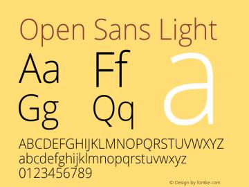 Open Sans Light Version 1.10图片样张
