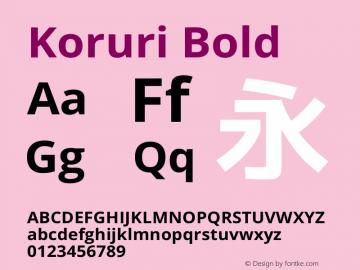 Koruri Bold  Font Sample