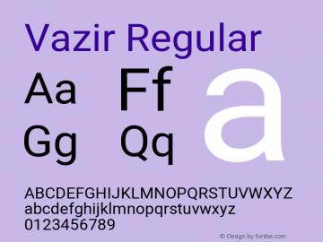 Vazir Regular Version 28.0.0图片样张