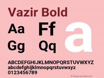 Vazir Bold Version 28.0.0图片样张