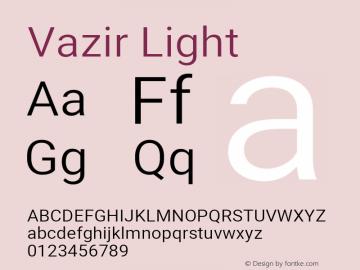 Vazir Light Version 28.0.0图片样张