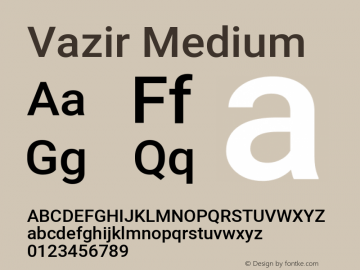 Vazir Medium Version 28.0.0图片样张