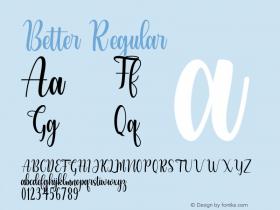 Better Version 1.003;Fontself Maker 3.5.4图片样张