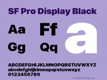 SF Pro Display Black Version 03.0d8e1 (Sys-15.0d4e20m7)图片样张