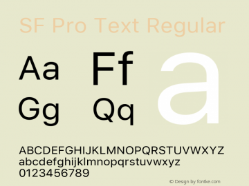 SF Pro Text Regular Version 03.0d8e1 (Sys-15.0d4e20m7)图片样张