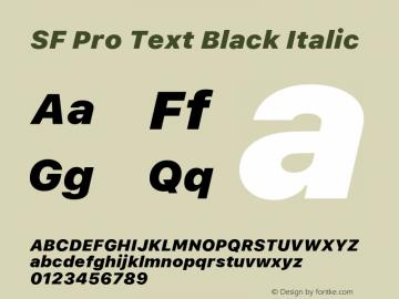 SF Pro Text Black Italic Version 03.0d8e1 (Sys-15.0d4e20m7)图片样张
