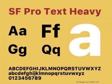 SF Pro Text Heavy Version 03.0d8e1 (Sys-15.0d4e20m7)图片样张