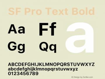 SF Pro Text Bold Version 03.0d8e1 (Sys-15.0d4e20m7)图片样张