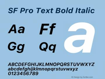 SF Pro Text Bold Italic Version 03.0d8e1 (Sys-15.0d4e20m7)图片样张