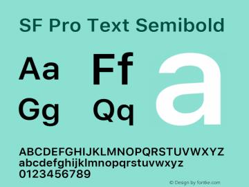 SF Pro Text Semibold Version 03.0d8e1 (Sys-15.0d4e20m7)图片样张