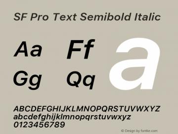 SF Pro Text Semibold Italic Version 03.0d8e1 (Sys-15.0d4e20m7)图片样张