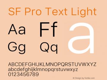 SF Pro Text Light Version 03.0d8e1 (Sys-15.0d4e20m7)图片样张