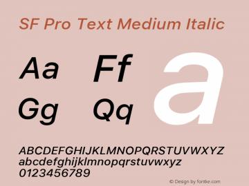 SF Pro Text Medium Italic Version 03.0d8e1 (Sys-15.0d4e20m7)图片样张