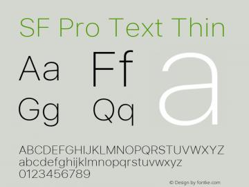 SF Pro Text Thin Version 03.0d8e1 (Sys-15.0d4e20m7)图片样张