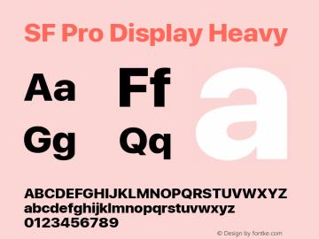 SF Pro Display Heavy Version 03.0d8e1 (Sys-15.0d4e20m7)图片样张