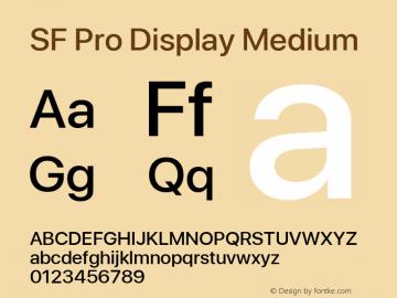 SF Pro Display Medium Version 03.0d8e1 (Sys-15.0d4e20m7)图片样张