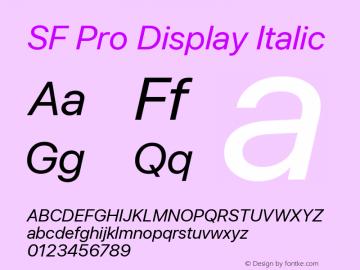 SF Pro Display Italic Version 03.0d8e1 (Sys-15.0d4e20m7)图片样张