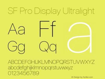 SF Pro Display Ultralight Version 03.0d8e1 (Sys-15.0d4e20m7) Font Sample