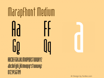 Marapfhont Version 0.9图片样张