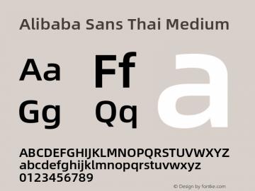 Alibaba Sans Thai Medium Version 1.00 Font Sample
