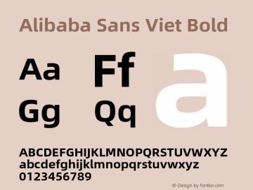 Alibaba Sans Viet Bold Version 1.00图片样张