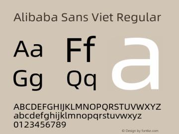 Alibaba Sans Viet Version 1.00图片样张