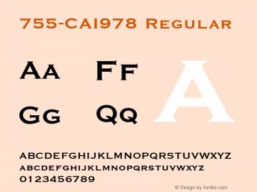 755-CAI978 Regular Version 1.00 December 7, 1998, initial release图片样张