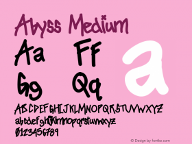 Abyss Version 001.000 Font Sample