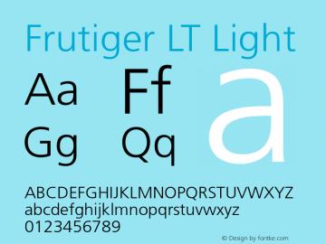 Frutiger LT Light 006.000 Font Sample