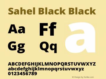 Sahel Black Version 1.0.0-alpha18 Font Sample