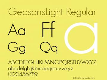 GeosansLight Regular 1.0 Font Sample
