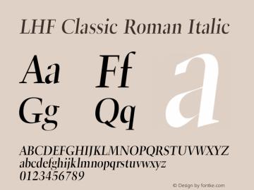 LHF Classic Roman Font,LHF Classic Roman Italic Font
