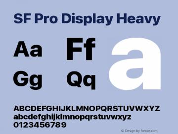 SF Pro Display Heavy Version 16.0d18e1图片样张