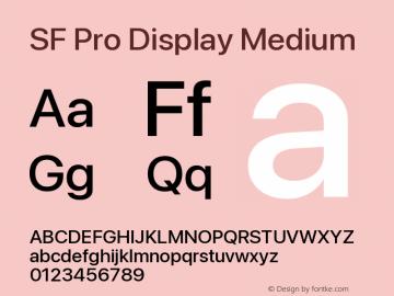SF Pro Display Medium Version 16.0d18e1图片样张