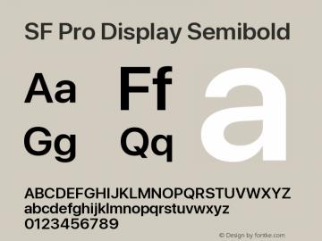SF Pro Display Semibold Version 16.0d18e1图片样张