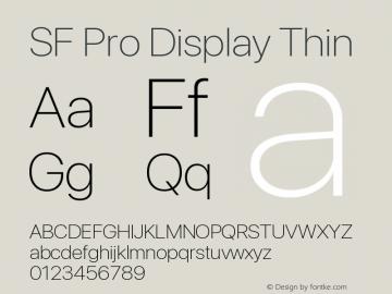 SF Pro Display Thin Version 16.0d18e1图片样张