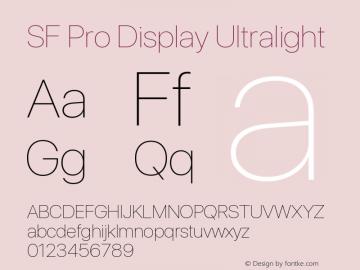 SF Pro Display Ultralight Version 16.0d18e1图片样张