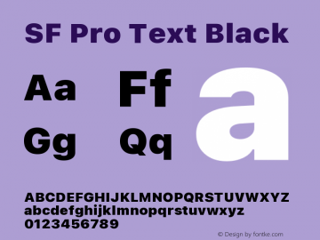 SF Pro Text Black Version 16.0d18e1图片样张