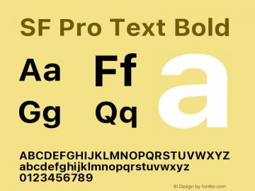 SF Pro Text Bold Version 16.0d18e1图片样张