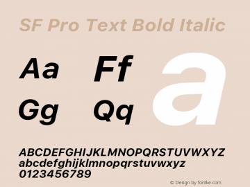 SF Pro Text Bold Italic Version 16.0d18e1图片样张