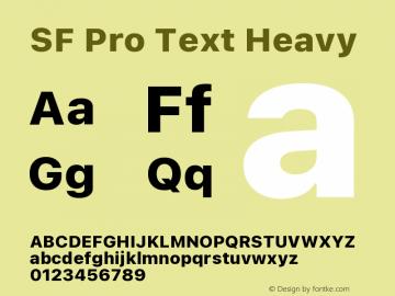 SF Pro Text Heavy Version 16.0d18e1图片样张