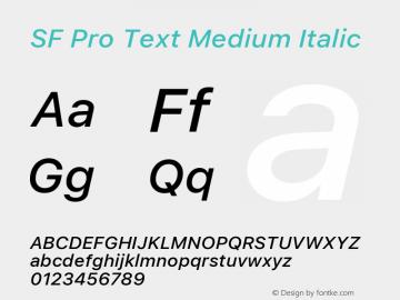 SF Pro Text Medium Italic Version 16.0d18e1图片样张