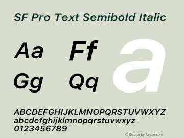 SF Pro Text Semibold Italic Version 16.0d18e1图片样张